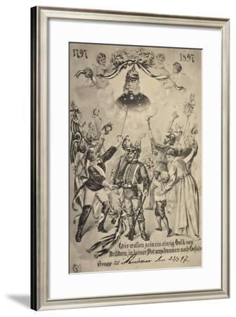 Künstler Kaiser Wilhelm I, Studenten, Patriotik--Framed Giclee Print
