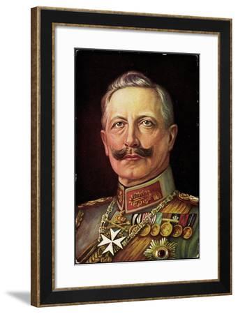 Künstler Kaiser Wilhelm II, Portrait, Orden--Framed Giclee Print