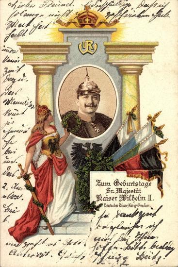 Künstler Kaiser Wilhelm II V Preußen, Zum Geburtstag--Giclee Print