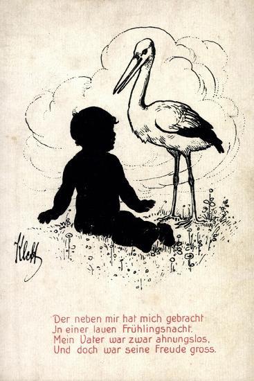 Künstler Klett, Storch Bringt Kind, Frühlingsnacht, Vater Ahnungslos--Giclee Print