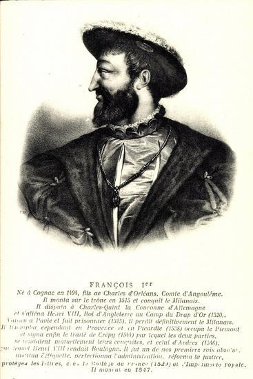 Künstler König Francois 1Er, Comte D'Angloulême--Giclee Print