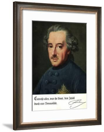 Künstler König Friedrich Der Große, Entreißt Alles..--Framed Giclee Print
