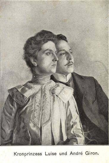 Künstler Kronprinzessin Luise Und Andre Giron--Giclee Print