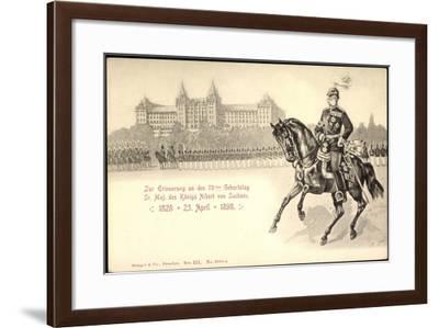 Künstler Maj. König Albert Von Sachsen,70 Geburtstag--Framed Giclee Print