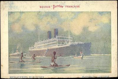 Künstler Messageries Maritimes, Dampfer, Colombo--Giclee Print