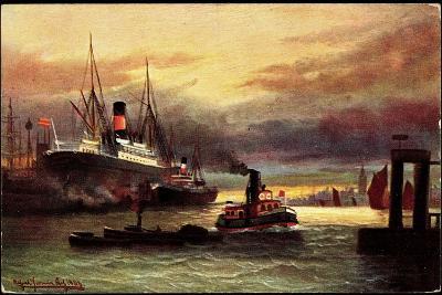 Künstler Morgenstimmung Im Hafen, Tsn Serie 705--Giclee Print