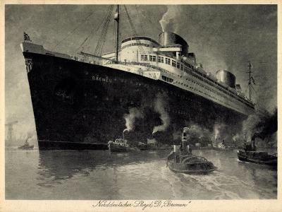 Künstler Norddeutscher Lloyd Bremen, Dampfer Bremen--Giclee Print