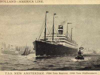 Künstler Pansing, Hapag,T.S.S. New Amsterdam, Dampfer--Giclee Print