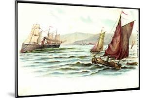 Künstler Pelletier, F., Segelboote, Dampfschiff