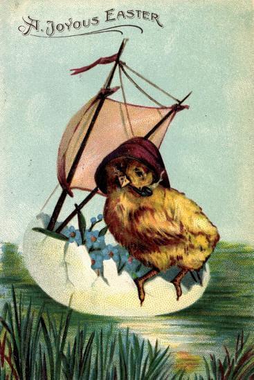 Künstler Präge a Joyous Easter, Chick, Sailor, Egg--Giclee Print