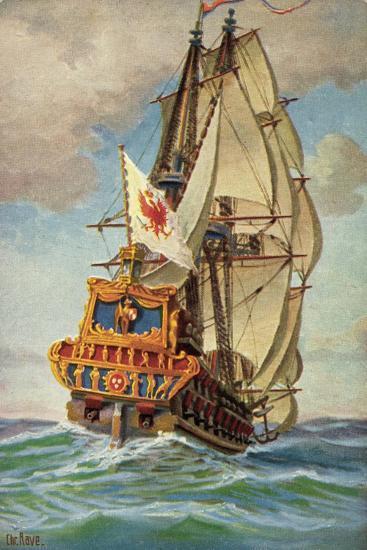 Künstler Rave, C., Brandenb. Kriegsschiff, Churprinz--Giclee Print
