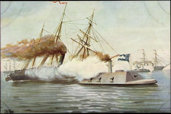 Künstler Rave, C., Futur. Kriegsschiff, Segelschiffe--Giclee Print