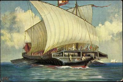 Künstler Rave, C., Segelschiff,Venezianische Galeere--Giclee Print