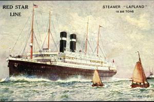 Künstler Red Star Line, Steamer Lapland, Dampfer