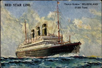 Künstler Red Star Line, Triple Screw Belgenland--Giclee Print