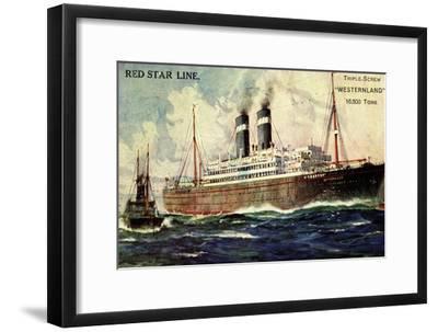 Künstler Red Star Line, Westernland, Steamer, Dampfer