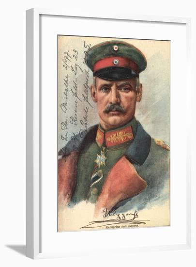 Künstler Renatus, O., Rupprecht Von Bayern, Uniform--Framed Giclee Print