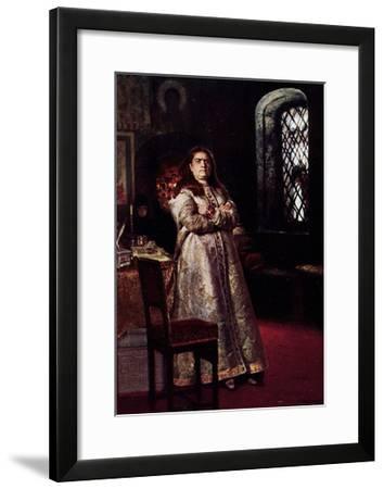 Künstler Répine E., Die Zarin Sophie Am Fenster--Framed Giclee Print