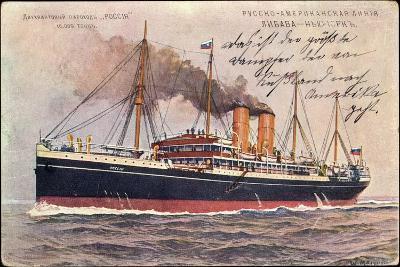 Künstler Russisches Dampfschiff Rossia in Fahrt--Giclee Print
