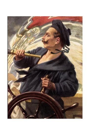 Künstler Schmidt H.W., Steuermann Kaiser Wilhelm--Giclee Print