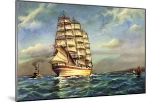 Künstler Segelschiff, 3 Master Auf See, Boote