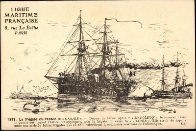 Künstler Segelschiff, Frégate Cuirassée La Gloire--Giclee Print