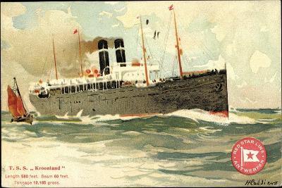 Künstler T.S.S. Kroonland, Red Star Line--Giclee Print