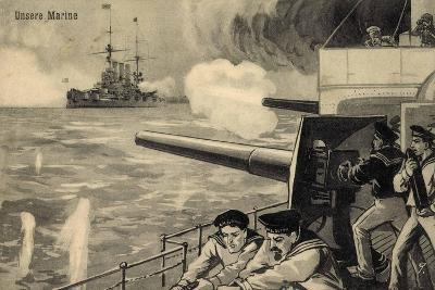 Künstler Unsere Marine, Deutsche Matrosen Im Gefecht--Giclee Print