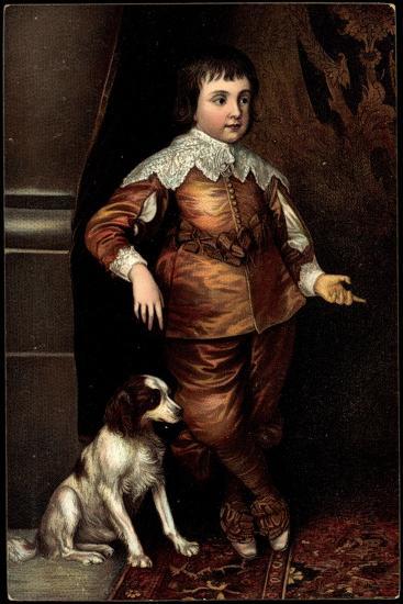 Künstler Van Dyck, Sohn Karls I. Von England, Hund--Giclee Print