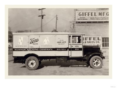 Kuhner Packing Company Truck--Art Print