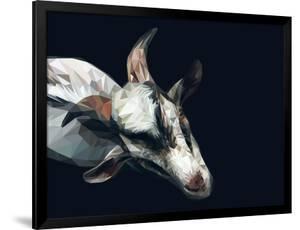 Vector Polygonal Goat Illustration. by Kundra