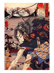 Clearing Water at Horikawa by Kuniyoshi Utagawa