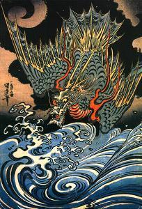 Dragon by Kuniyoshi Utagawa