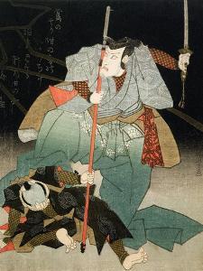 Ichikawa Danjuro VII Overpowering an Officer of the Law, C.1830-44 by Kuniyoshi Utagawa