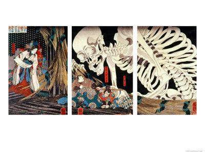 Mitsukini Defying the Skeleton Spectre, circa 1845