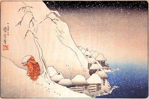 Nichiren Going into Exile on the Island of Sado by Kuniyoshi Utagawa