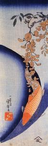 Red Carp under Wisteria by Kuniyoshi Utagawa