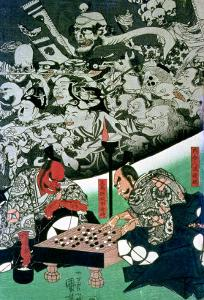The Earth Spider Making Magic in the Palace of Raiko by Kuniyoshi Utagawa