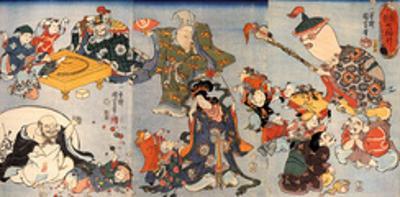 The Seven Gods of Good Fortune by Kuniyoshi Utagawa