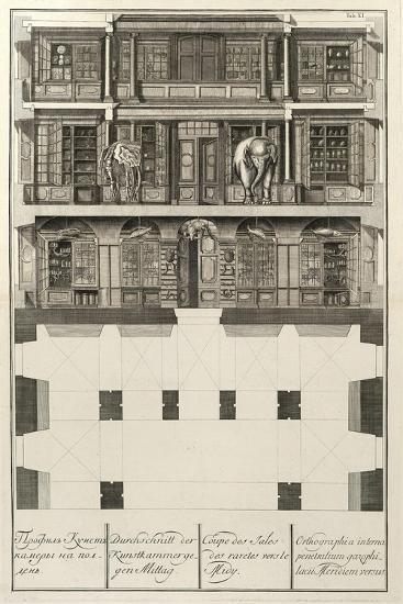 Kunstkammer (From: the Building of the Imperial Academy of Science), 1741-Christian Albrecht Wortmann-Giclee Print