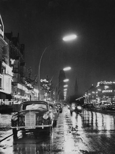 Kurfurstendamm at Night-Pictorial Parade-Photographic Print