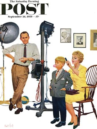 """""""At the Photographer"""" Saturday Evening Post Cover, September 26, 1959"""