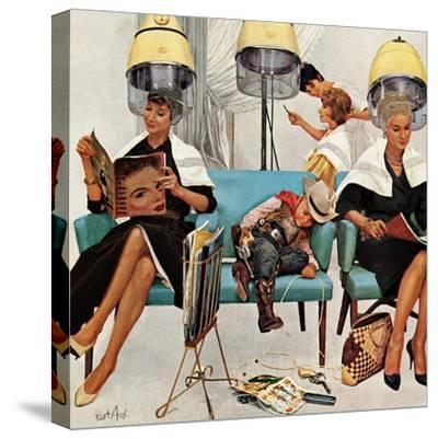 """""""Cowboy Asleep in Beauty Salon,"""" May 6, 1961"""