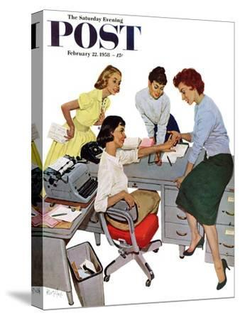 """Engagement Ring"" Saturday Evening Post Cover, February 22, 1958"