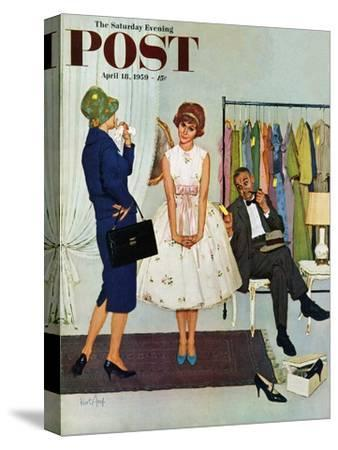 """First Prom Dress"" Saturday Evening Post Cover, April 18, 1959"