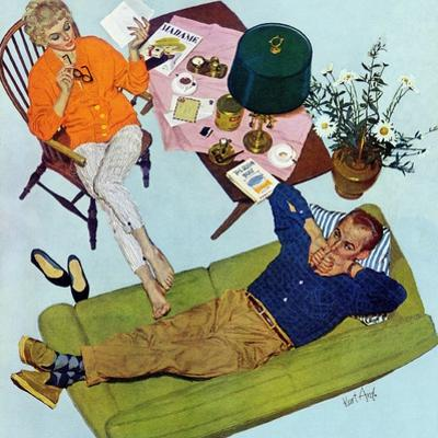 "Husbands Better Tell - Saturday Evening Post ""Men at the Top"", September 6, 1958 pg.17"