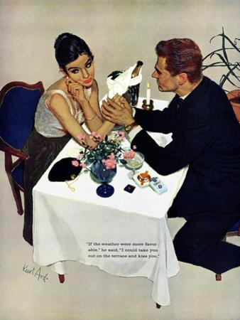 """Pretend You Love Me - Saturday Evening Post """"Leading Ladies"""", February 22, 1958 pg.40"""