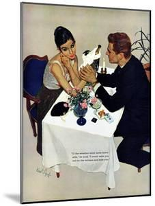 """Pretend You Love Me - Saturday Evening Post """"Leading Ladies"""", February 22, 1958 pg.40 by Kurt Ard"""