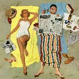 """Cowboy Asleep in Beauty Salon,"" May 6, 1961-Kurt Ard-Mounted Giclee Print"