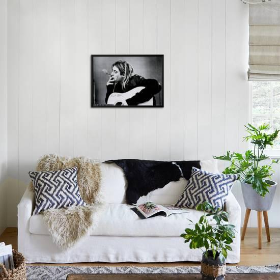 Kurt Cobain Lamina Framed Poster by   Art.com